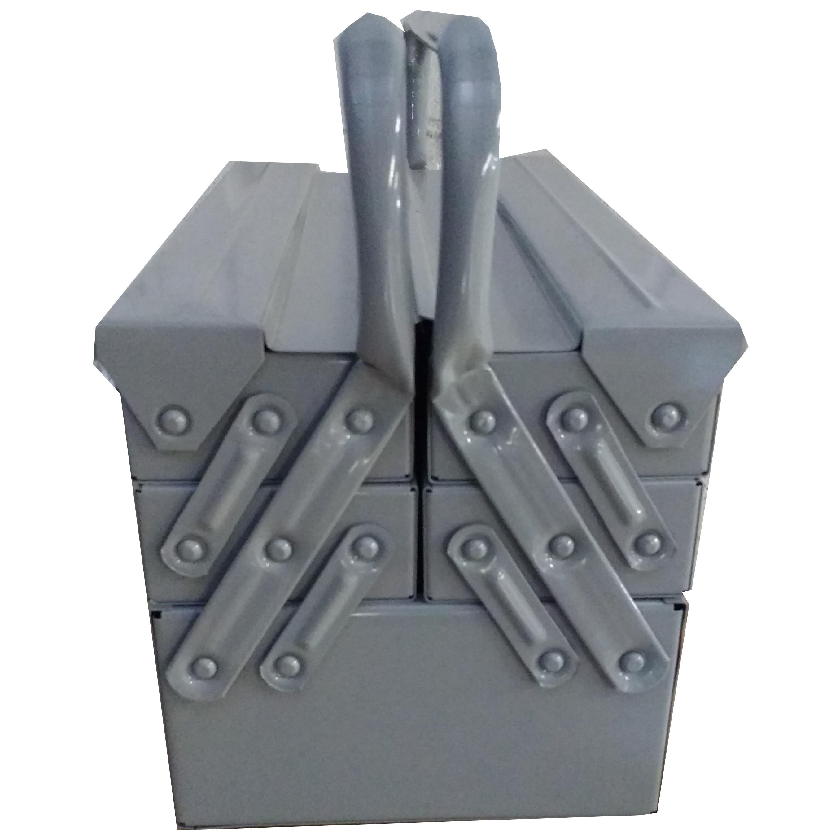 Caixa Ferramentas Sanfonada 5 Gavetas 50 cm Cabo Fixo Reforçada