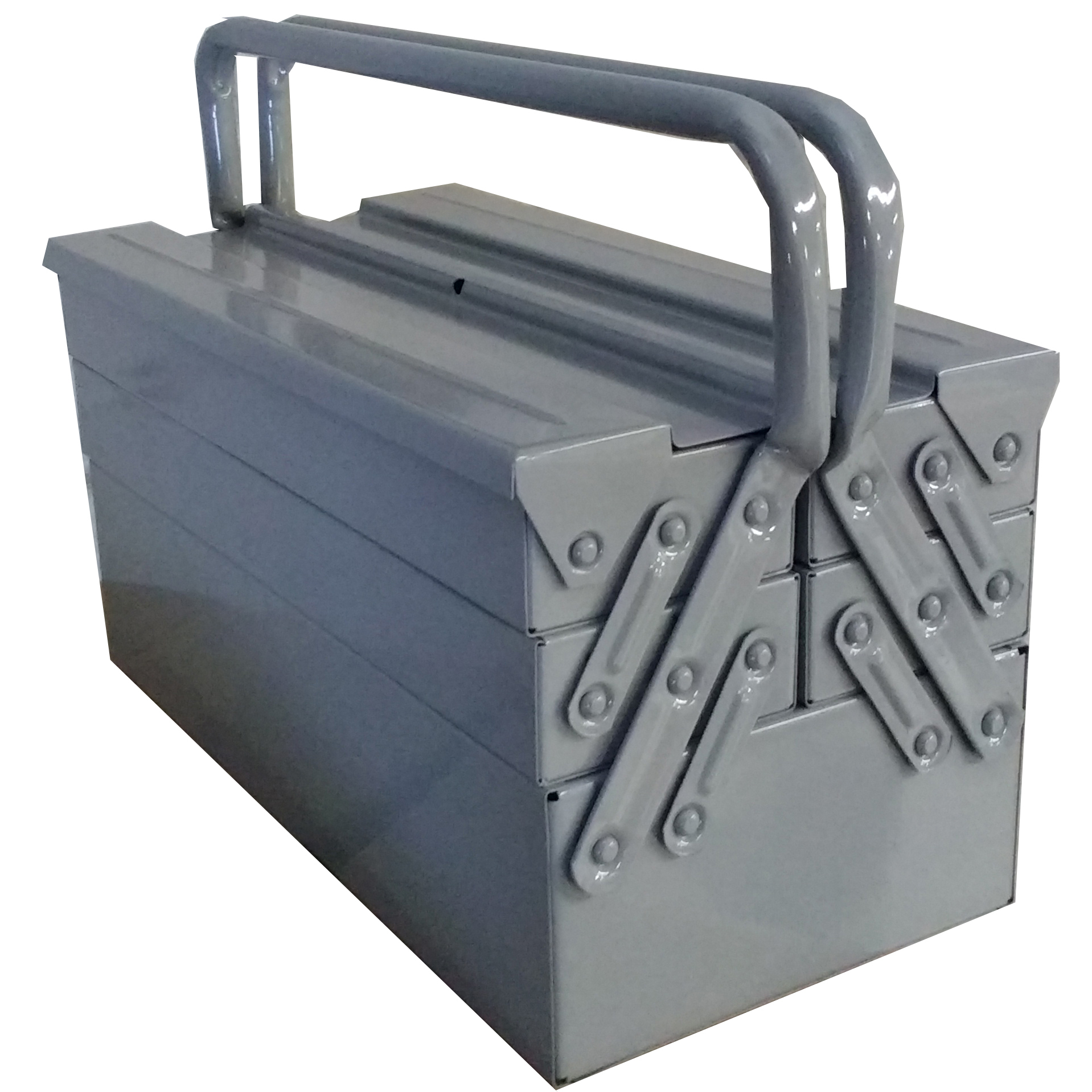 Caixa Ferramentas Sanfonada 5 Gavetas 40 cm Cabo Fixo Reforçada