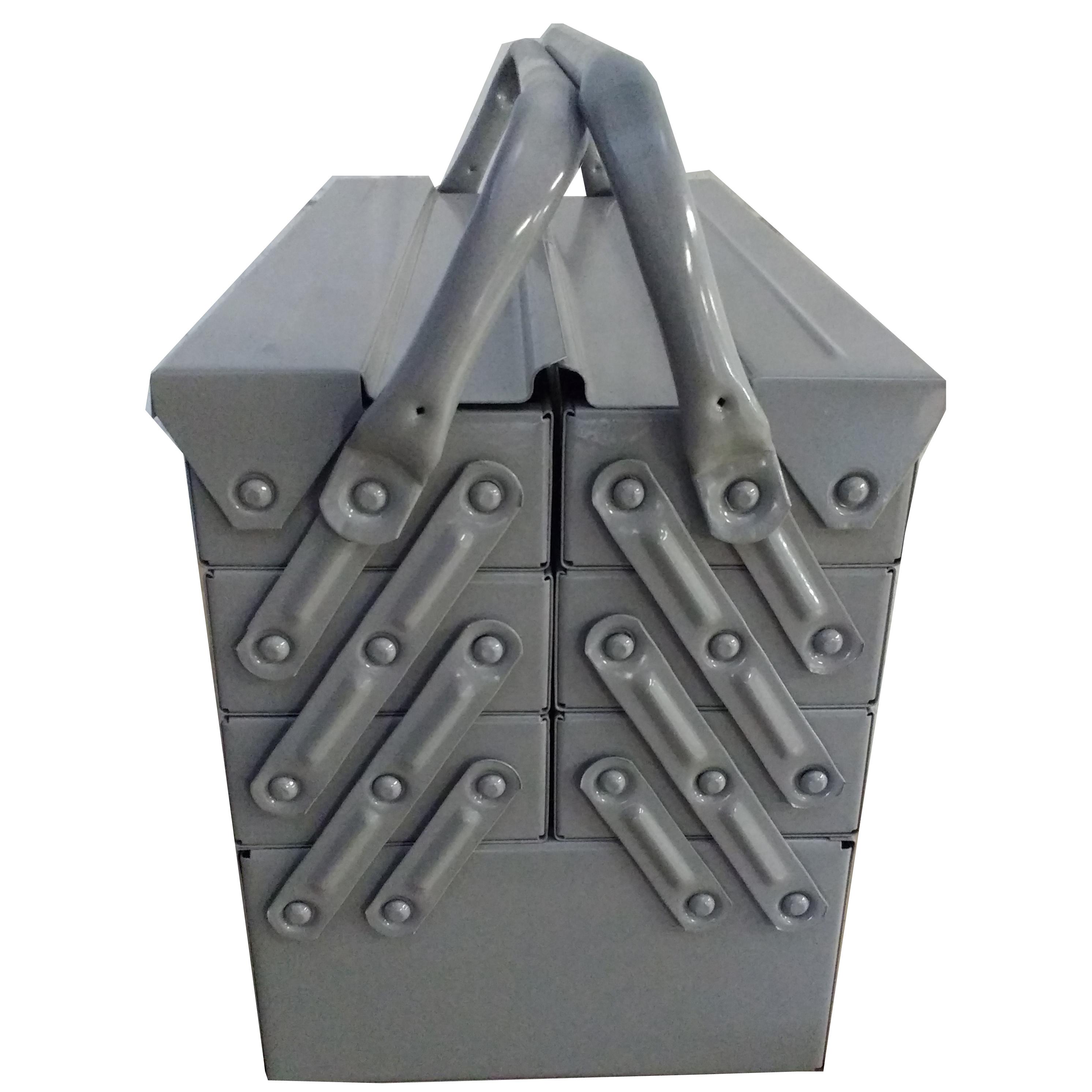 Caixa Ferramentas Sanfonada 7 Gavetas 50 cm Cabo Movel Reforçada