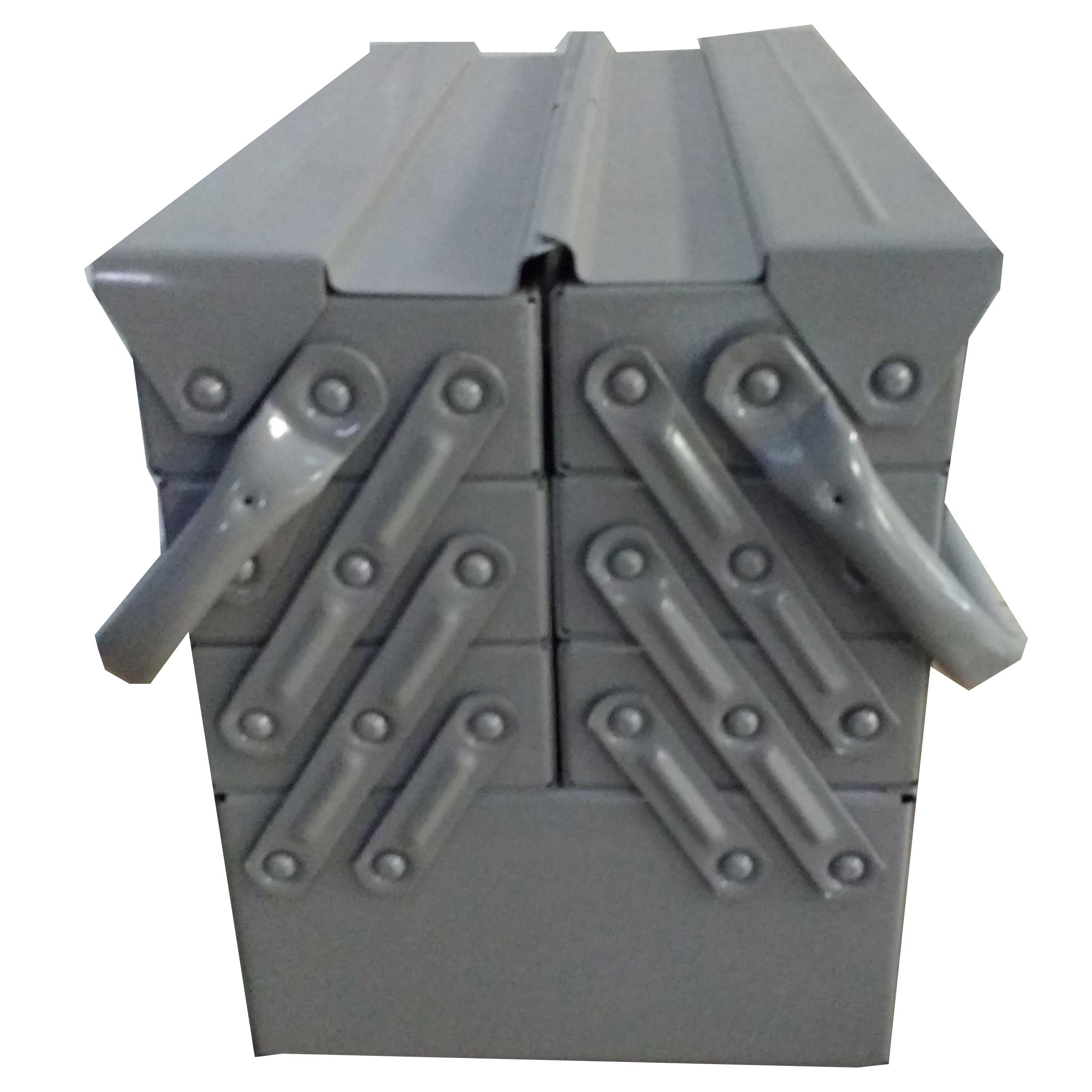 Caixa Ferramentas Sanfonada 7 Gavetas 40 cm Cabo Movel Reforçada